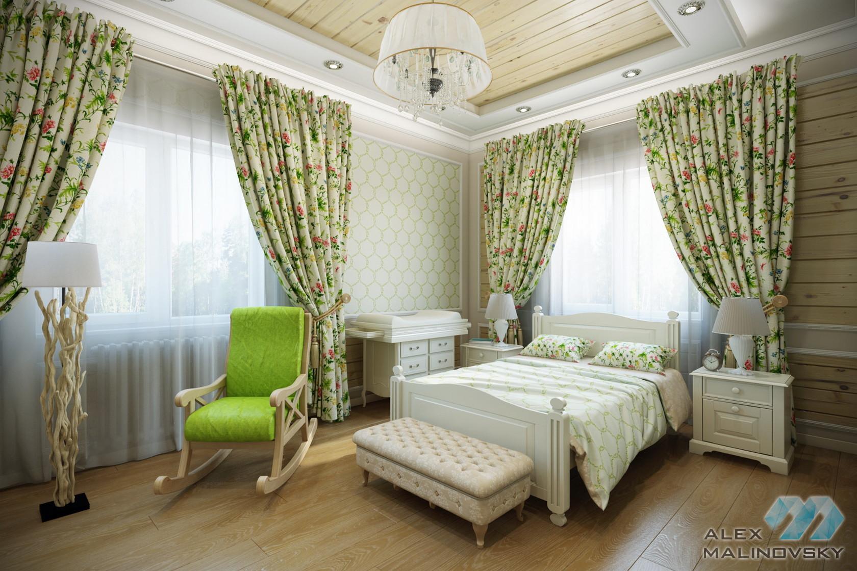 КП Глаголево, Московская область, гостевая спальня в коттедже